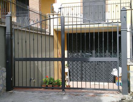 Ferro battuto carpenteria metallica cagliari for Cancelli in ferro battuto immagini